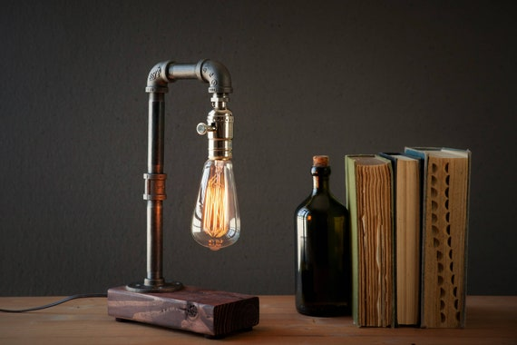 Rustic Industrial Lamp Small Table Lamp