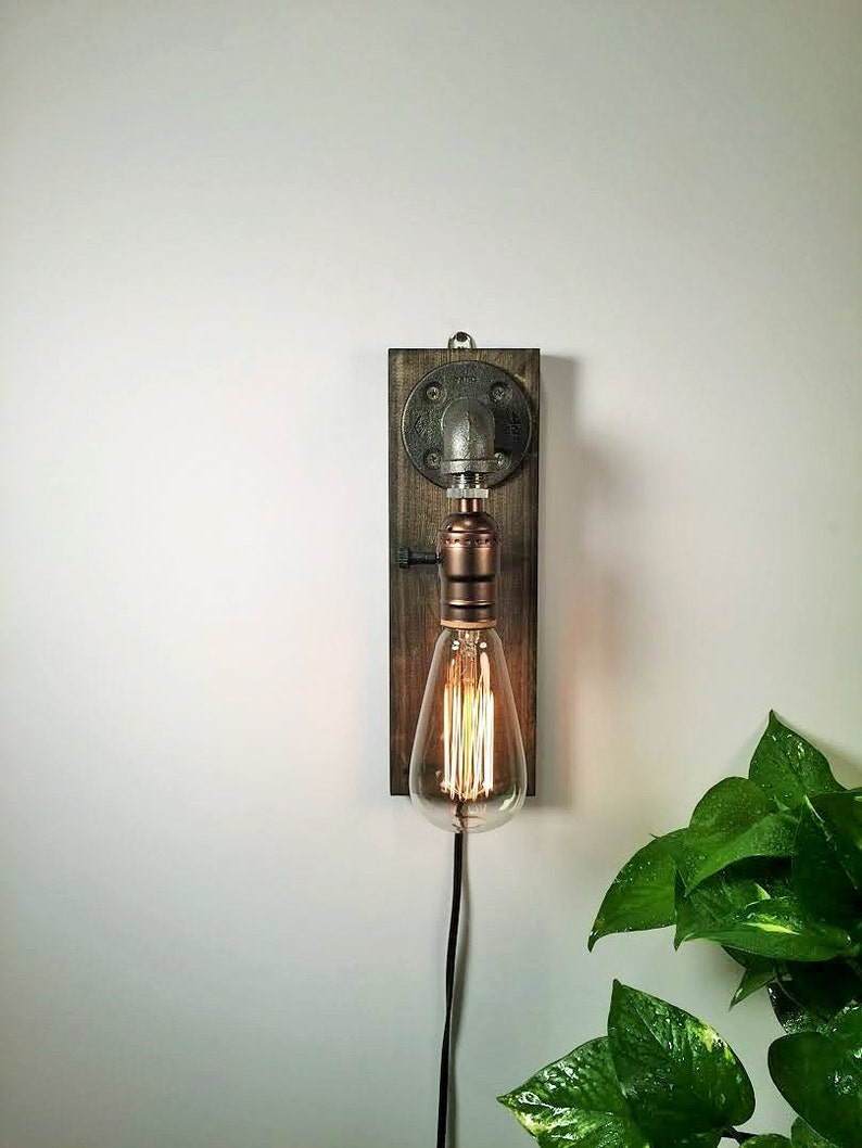 Plug in Sconce-Tablelamp-Wall sconce-Steampunk lamp-Rustic image 0