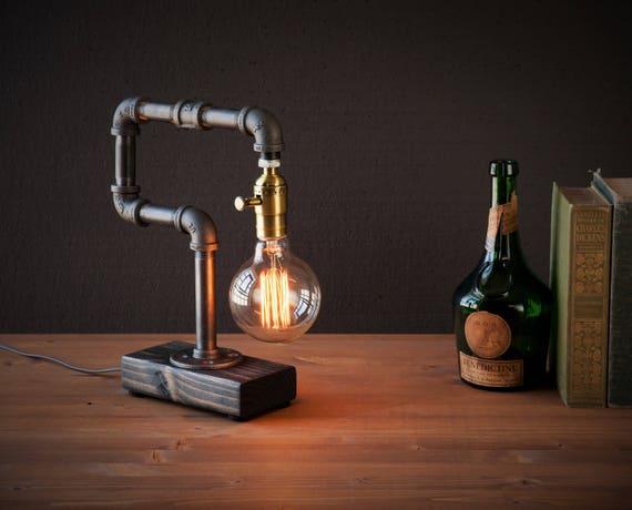 Edison Lamp Rustic Home Decor Steampunk Lamp Unique Table