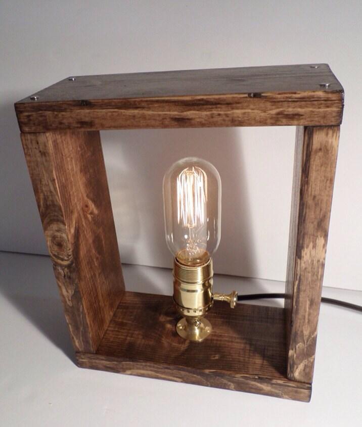 Edison lamp-Rustic decor-Unique Table lamp-Industrial   Etsy