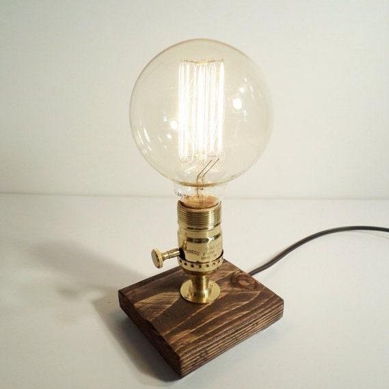Edison Lamp-Rustic Home Decor-Steampunk Lamp-Unique Table