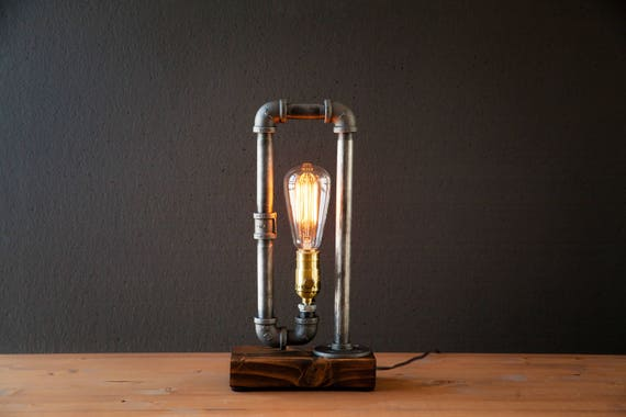 Table Lamp Desk Lamp Edison Steampunk Lamp Rustic Home Etsy