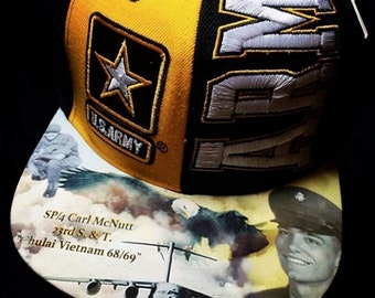US Army Custom Warrior Wear Snapback Tribute Time CAPsule (Your loved one here!)Modified Personalized