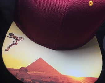 Decky Snapback or Fitted Cap  Bill Application of Ready to Print Photo or LogoModified Personalized