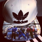 Adidas Snapback Hat with Run DMC and Beastie Boys -Men's Hat-Custom Hat-Modified Brim-Personalized Brim Applications
