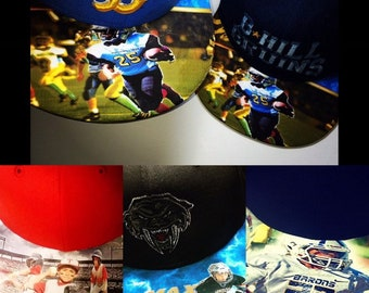 Athletic Custom Caps Showcases Your Young Athlete Like Never Before! Be the first on your field  this personalized prize piece!