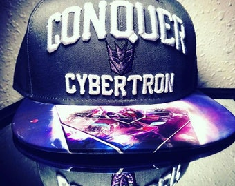 "Transformers Cybertron  'Conquer""Gray New Era Snapback 9Fifty with Exclusive Custom Design 
