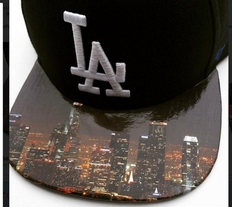 ATIC Custom Hat  Los Angeles Dodgers Cap  Custom Skyline image 0