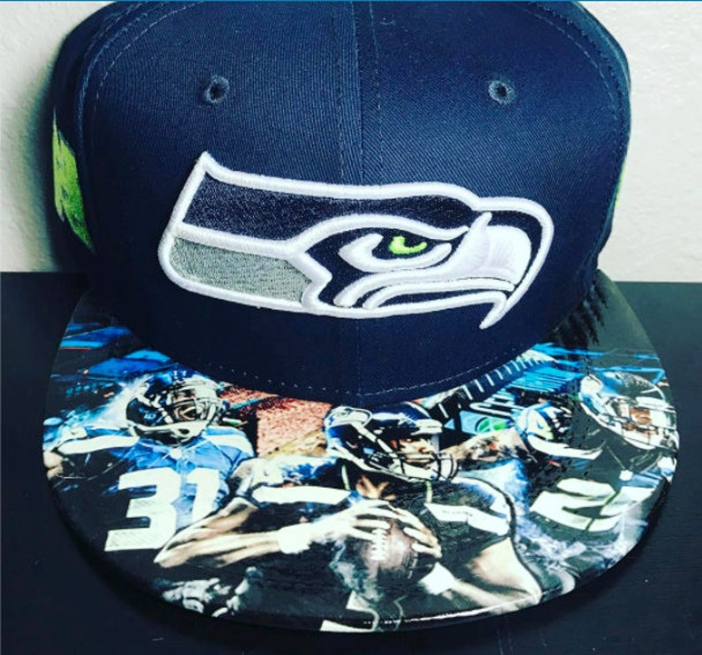 Seattle Seahawks Authentic New Era Snapback and Fitted Cap image 0