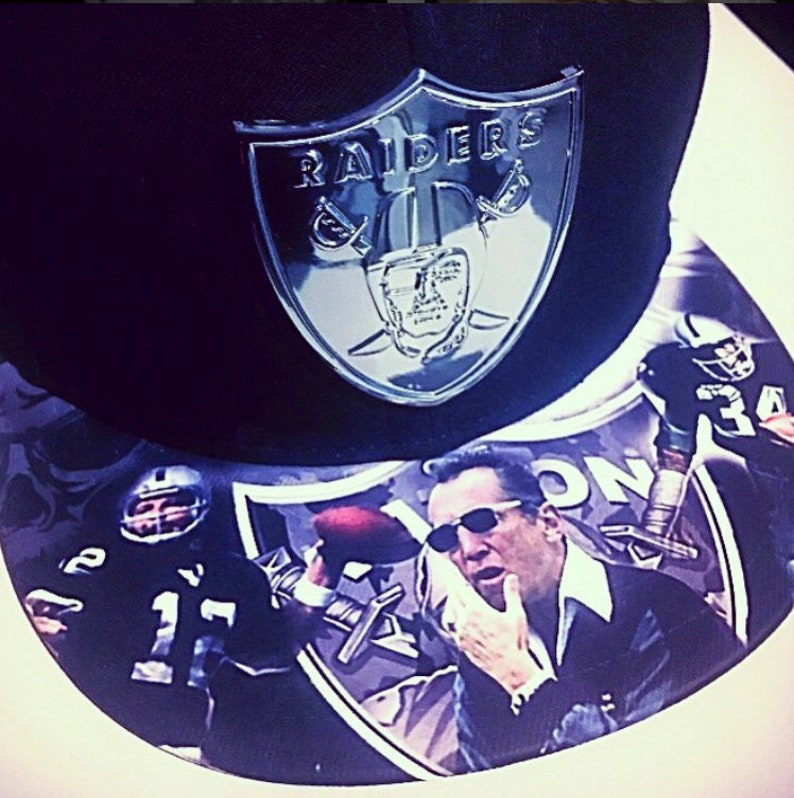 Oakland Raiders Snapback with Metal Badge Just Win image 0