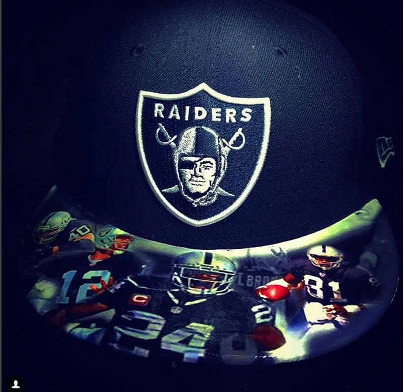 Oakland Raiders Authentic Snapback or Fitted Cap  Top and image 0