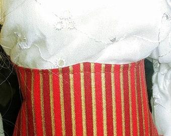 Jaunty Red Stripes - SD Size Waist Cinch