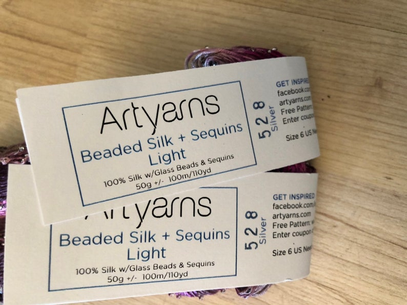Sequins Light Art Yarns Beaded Normally 64.00 30/% discount at checkout.