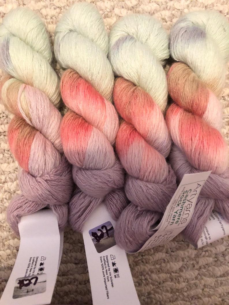 Normally 35 Art Yarns  Cashmere Sock Yarn On Sale 32.50.