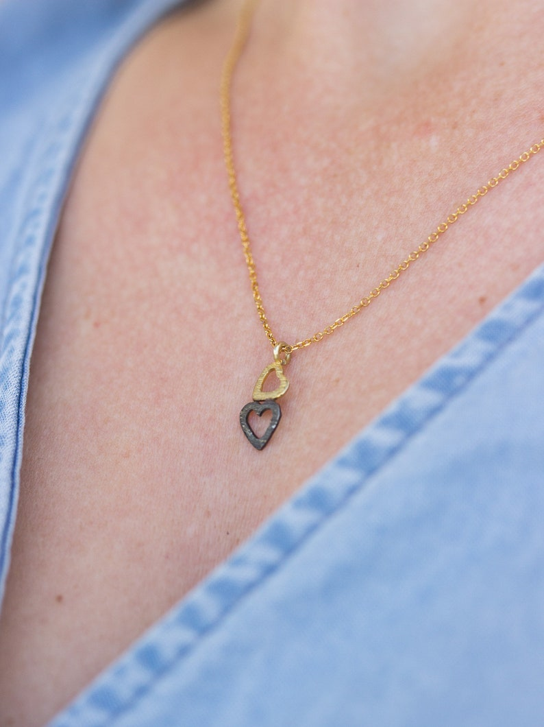 Tiny Gold Heart Necklace 14K Heart Necklace Greek Necklace Gold Jewelry Solid Gold Heart Necklace Dainty Gift Bridal Necklace Gift