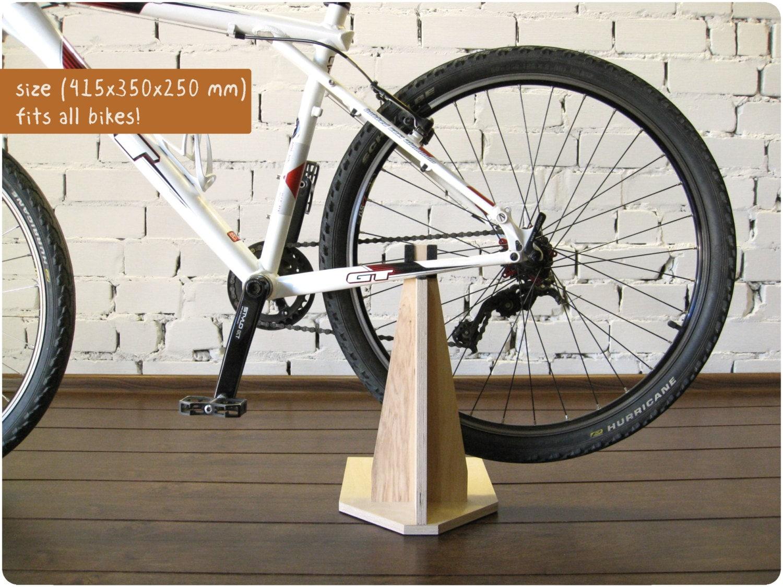 bike stand bike holder bike rack wooden bicycle. Black Bedroom Furniture Sets. Home Design Ideas