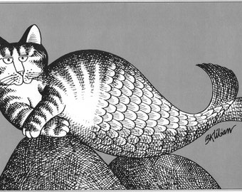 B Kliban Cat Original Vintage Art Print Perfect For Lovers Home Environment And Childs Nursery Or Bedroom Wall Hanging Decor