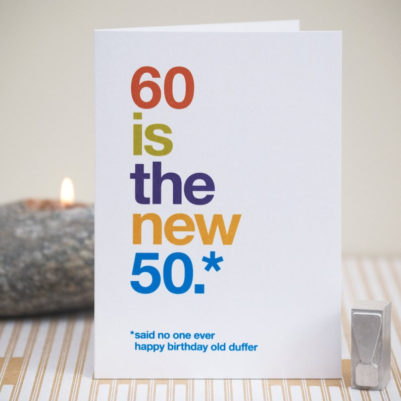 Funny 60th Birthday Card SALE SECOND 60 Witty