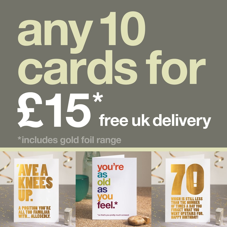 Birthday Cards 10 Card Bundle Pack Pick And Mix