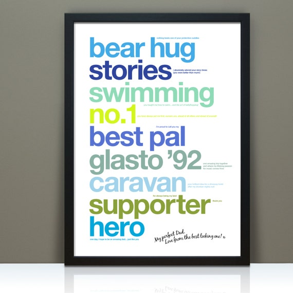 Fathers Day Gift Personalised Dad Best