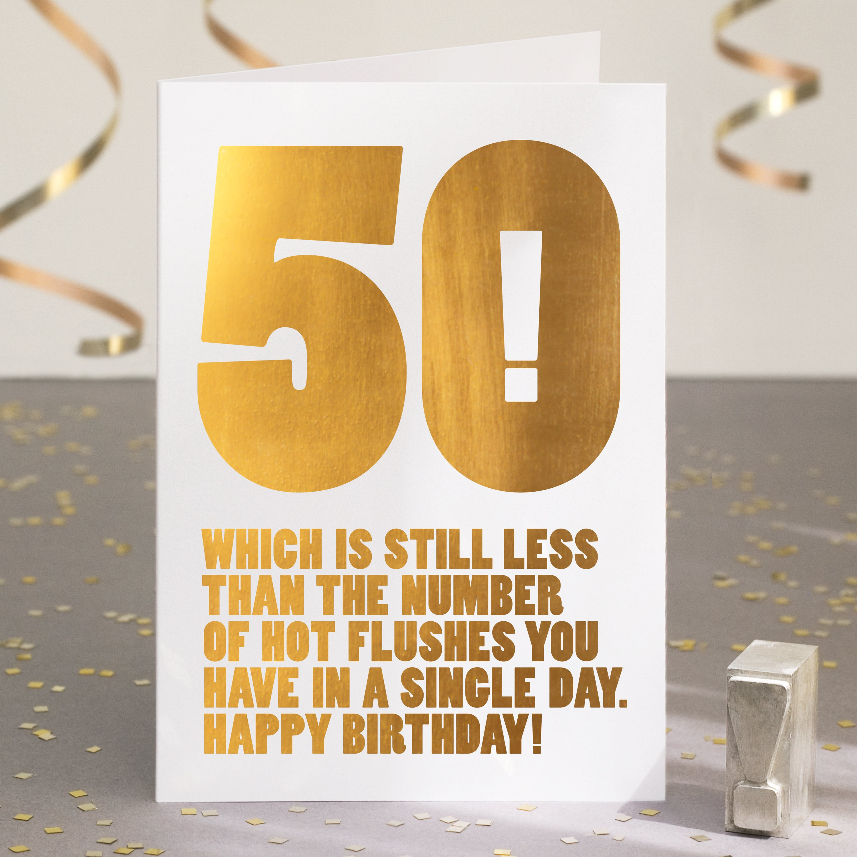 Funny 50th Birthday Card 50th Card Card For 50th