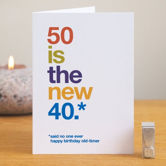Funny 50th Birthday Card 50