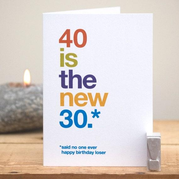 Lustige 40 Geburtstag Karte 40 Geburtstag Karte Lustige 40 Etsy