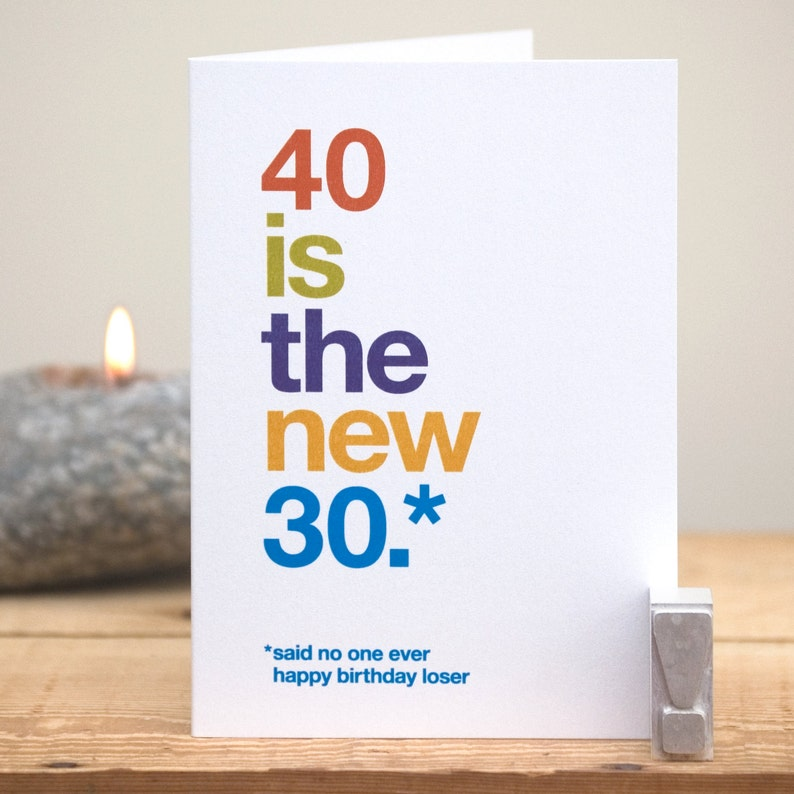 Funny 40th Birthday Card 40