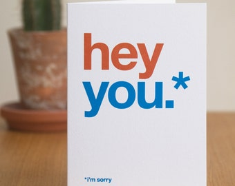 I'm Sorry Card, Funny Sorry Card, Humorous Sorry Card, Witty Sorry Card, Sarcastic Sorry Card, Sympathy Card, Funny Cards – FREE UK DELIVERY