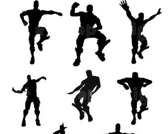 Silhouettes de danseuse | Etsy