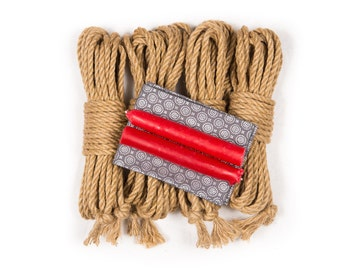 Jute rope and wax play starter kit
