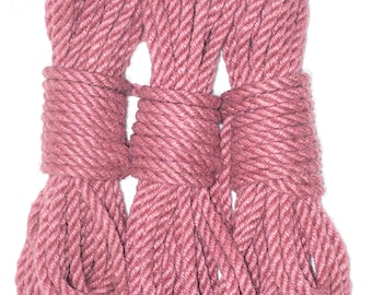 Jute bondage rope - pink