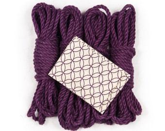 Purple shibari rope bondage kit