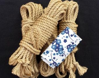 Starter shibari rope bondage kit