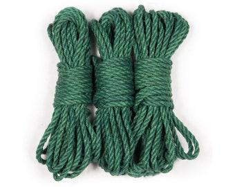 Jute bondage rope - Emerald green
