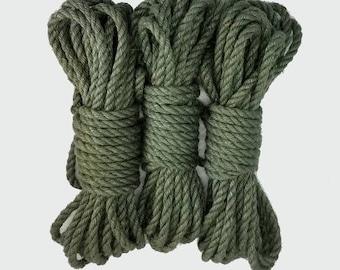 Jute bondage rope - Evergreen - seasonal