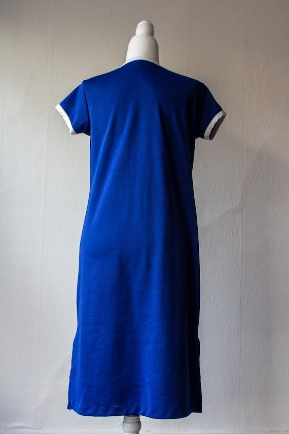Vintage 1970s Nautical T-Shirt Dress - image 9