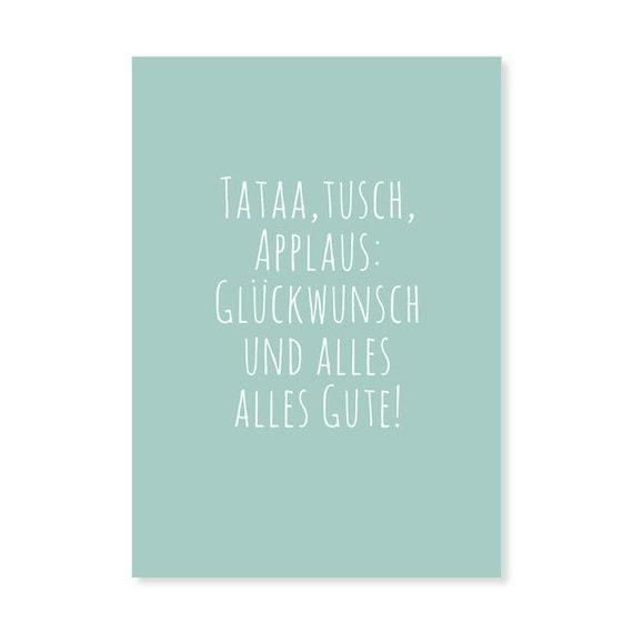 2 X Tataa Geburtstagskarte Postkarte Spruch