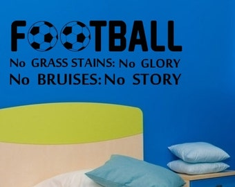 Football... Wall Sticker for your Home hand made from high quality vinyl