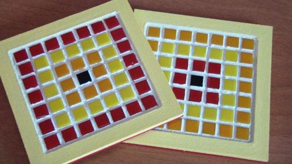 Sottopentola quadrato in mosaico etsy