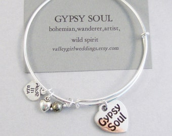 Gypsy Soul,Bracelet,Positive Energy,Pyrite,Bangle Braclet,Layering Bracelet,Sterling Bracelet,Gypsy Bracelet,Bangle Bracelet,Gypsy Jewlery
