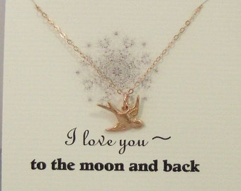I Love You,Sparrow,Necklace,Best,Friend,Friendship Necklace,Friends,Necklace,Rose Gold,Rose Gold Necklace,Rose,Bird Necklace,Silver Bird,