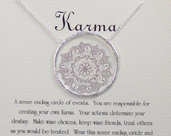 Karma,Karma Necklace,Never Ending Circle,Karma Jewelry,Necklace,Circle Necklace,Neckalce,Minimalist Necklace,Butterfly,Sterling Necklace