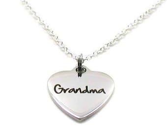 Grandma Necklace, Grandma Charm Necklace, Nana Necklace, Grandmother Necklace, Grandma Pendant, Grandma Jewelry, Gift For Grandma