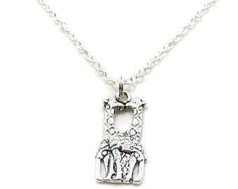 Giraffe Necklace, Giraffe Charm, Giraffe Jewelry, Giraffe Pendant, Silver Giraffe Jewelry, Animal Necklace, Wildlife Gift, Wildlife Necklace