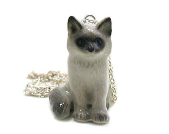 Kitten Necklace, Charm Necklace, Charm Jewelry, Ragdoll Kitten Pendant, Kitten Jewelry, Kitten Charm, Ragdoll Cat Jewelry, Cat Necklace