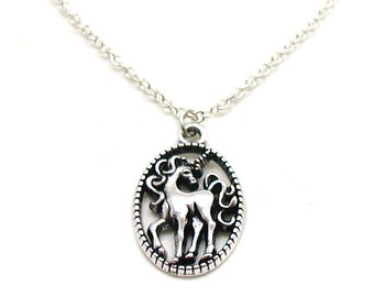 Unicorn Necklace, Silver Unicorn, Charm Jewelry, Fantasy Necklace, Horse Jewelry, Fairytale Jewelry, Fairytale Charm, Unicorn Jewelry