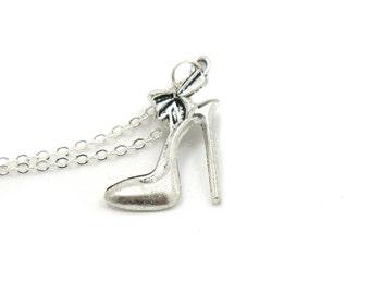 Stiletto High Heel Necklace, High Heel Shoe, Fashion Charm Jewelry, High Heel Necklace, Stiletto Jewelry, Jewelry Gift, High Heel Charm