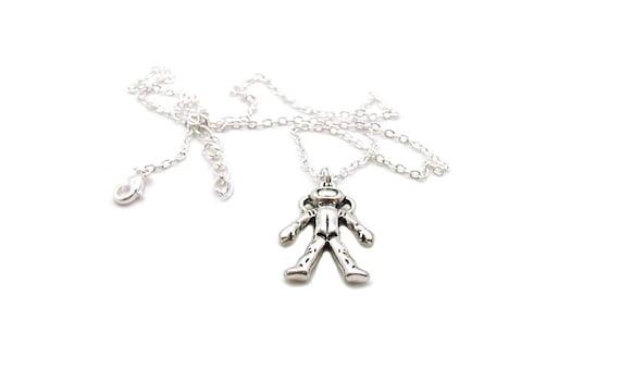 Astronaut Necklace Spaceman Necklace Astronaut Charm