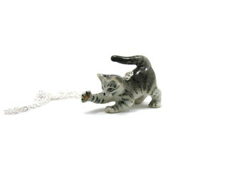 Kitten Necklace, Charm Necklace, Charm Jewelry, Kitten Pendant, Kitten Jewelry, Kitten Charm, Jewelry Gift, Cat Necklace, Statement Necklace
